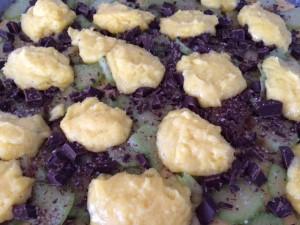 rabarbrakake med sjokolade og vaniljekrem 5
