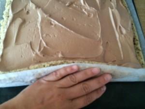rullekake med sjokoladekrem  6.