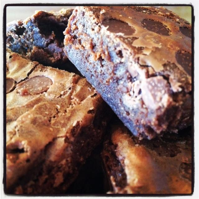 Brownies med melkesjokoladebiter