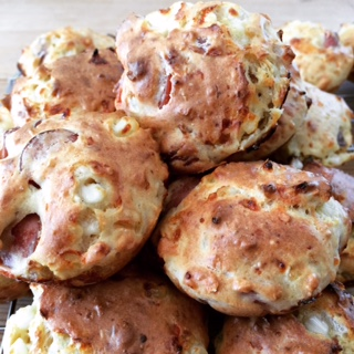 Proteinrike Lunsj Muffins
